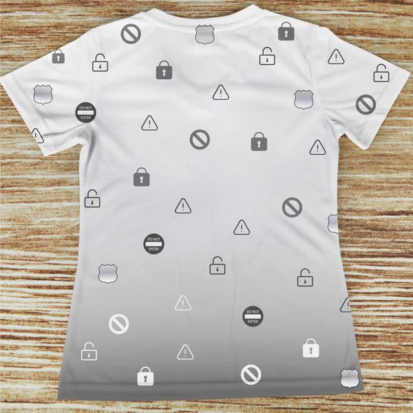 T-shirt profissão/curso Segurança costas