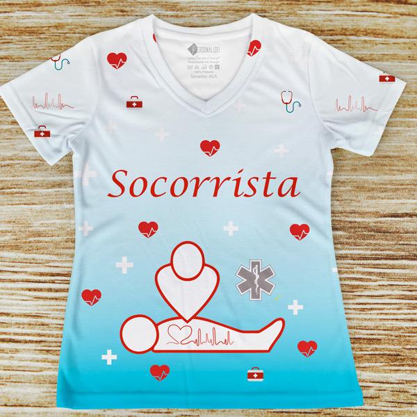 T-shirt profissão/curso Socorrista personalizar