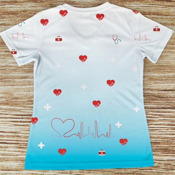 T-shirt profissão/curso Socorrista costas