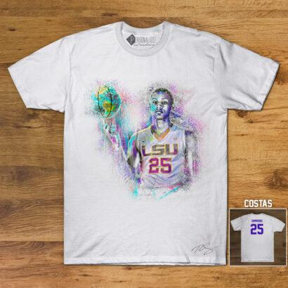 T-shirt Ben Simmons 25 LSU Tigers NCAA Branca preço