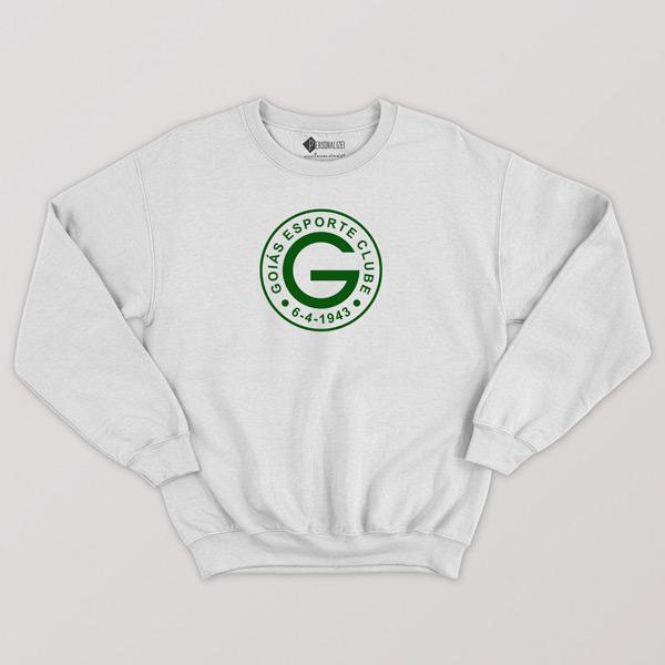 Sweatshirt do Goiás EC sem capuz Unisex branco