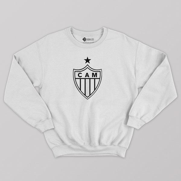 Sweatshirt do Atlético Mineiro Moletom sem capuz Unisex branco