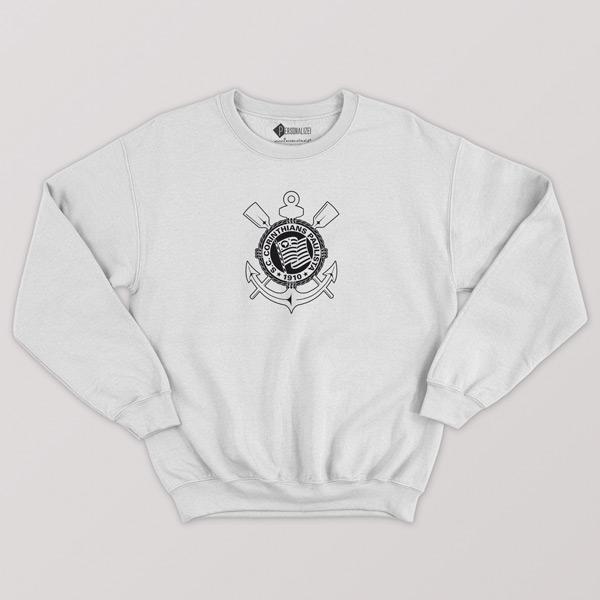 Sweatshirt do Corinthians sem capuz Unisex comprar branco