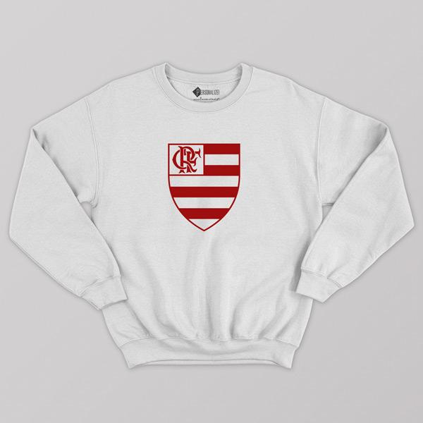 Sweatshirt do Flamengo sem capuz Unisex branco