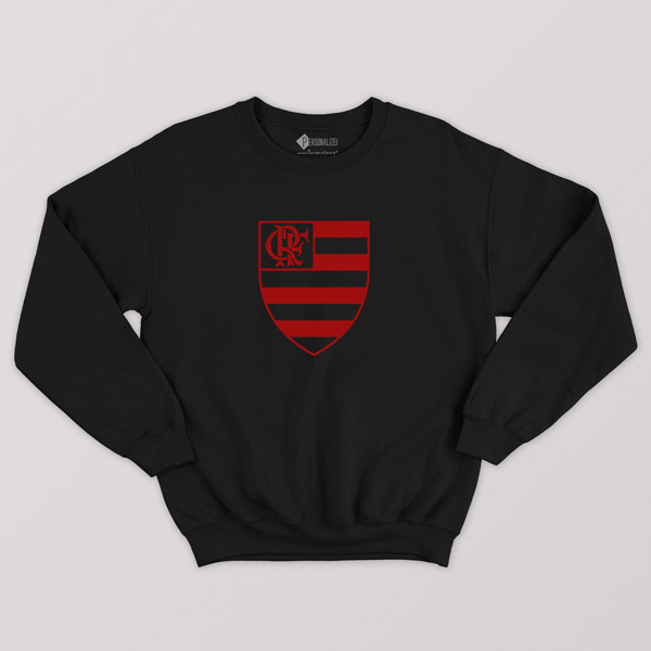 Sweatshirt do Flamengo sem capuz Unisex preto