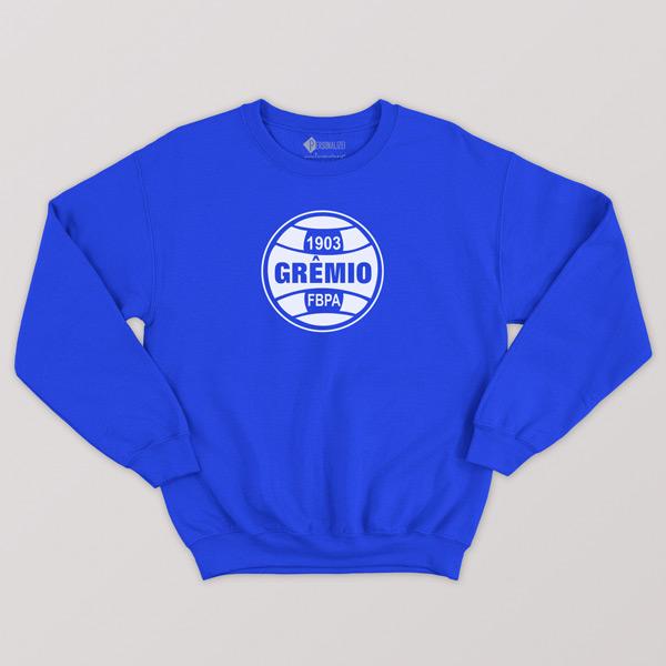 Sweatshirt do Grêmio sem capuz Unisex azul