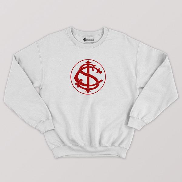 Sweatshirt do Internacional Moletom sem capuz Unisex branco
