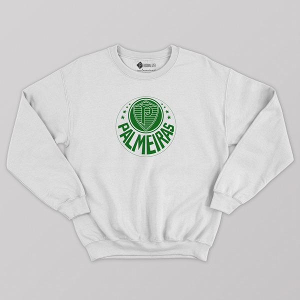 Sweatshirt do Palmeiras Moletom sem capuz Unisex branco