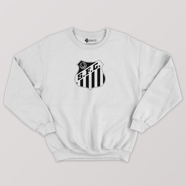 Sweatshirt do Santos FC Moletom sem capuz Unisex branco comprar em Portugal