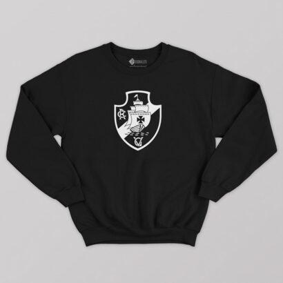 Sweatshirt do Vasco da Gama Moletom sem capuz Unisex preto