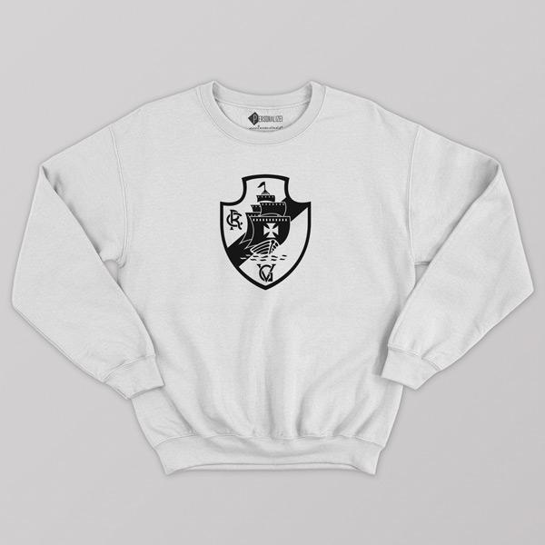 Sweatshirt do Vasco da Gama Moletom sem capuz Unisex branco comprar