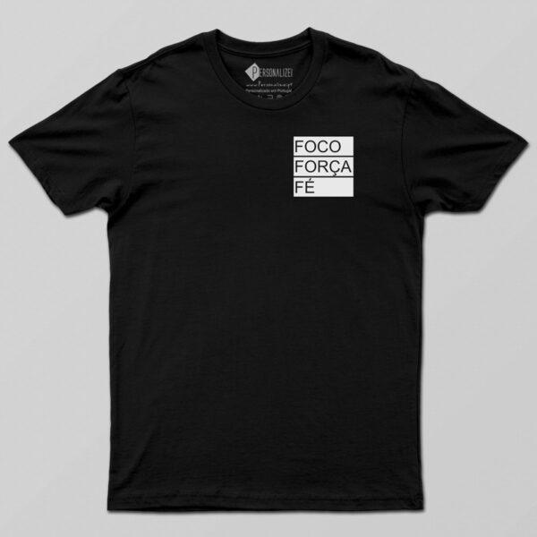 T-shirt Foco Força Fé manga curta comprar em Portugal
