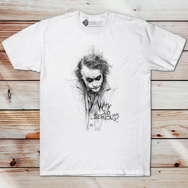 T-shirt Curinga Why so serious? camiseta manga curta comprar