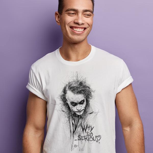 T-shirt Curinga Why so serious? camiseta manga curta
